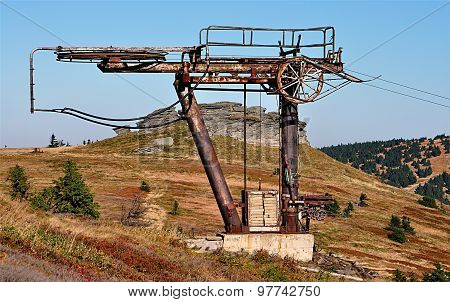 cable car, mountain Mountains, Czech Republic, Europe