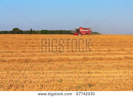 Harvesting wheat in August