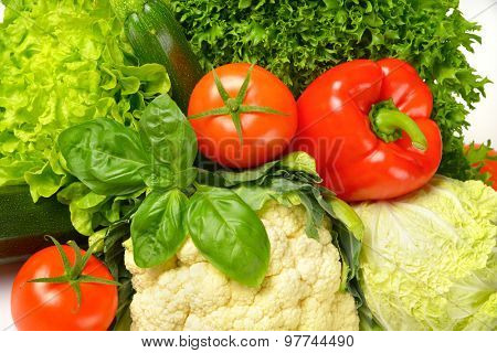 close up of assorted fresh vegetables