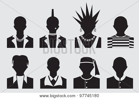 Hipster,punk, Emo, Rockstar And Prisoner Avatar Profile Picture