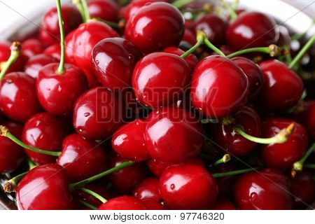 Sweet cherries close up