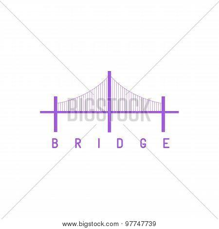 Silhouette Bridge logo purple architecture concept icon