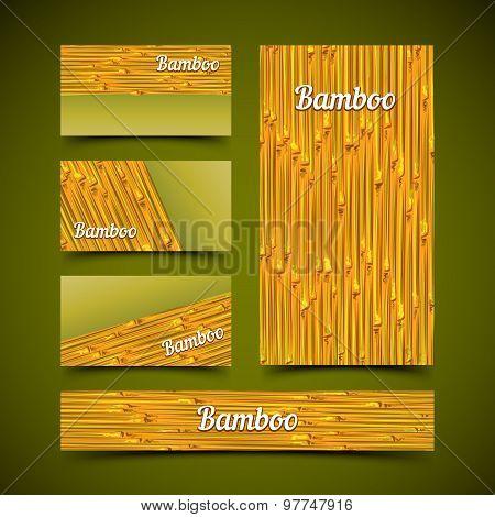Bamboo card set