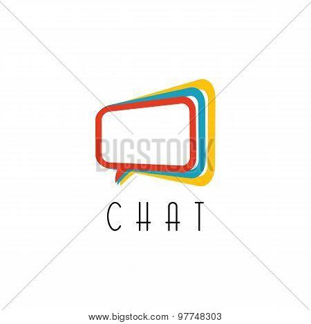 Chat Logo. Talking Concept, Idea Communication Technology Sign