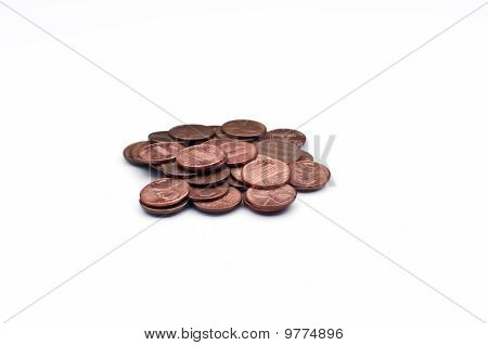 Disorganized Pile Of Pennies