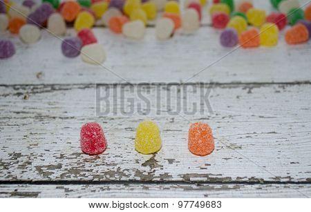 Close-Up Gum Drops