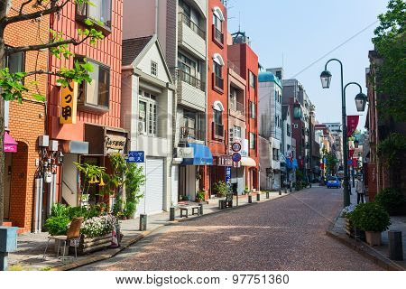 Old Town district in the core of Nagasaki City. Japan