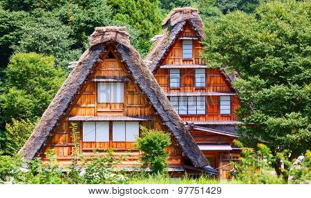 Village located in Gifu Prefecture, Japan