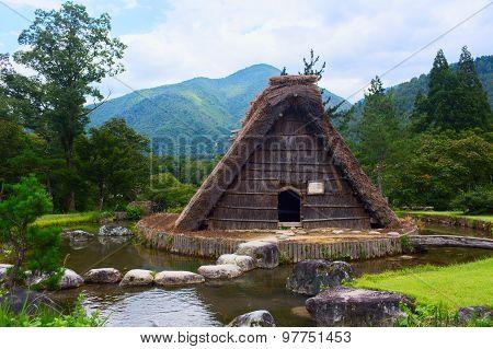 Village located in Gifu Prefecture, Japan