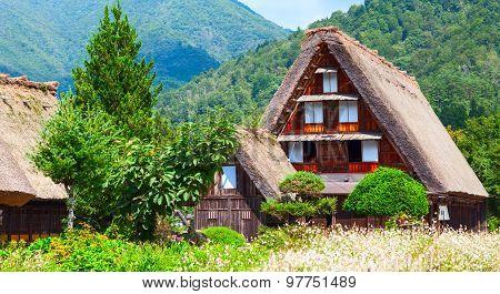 Village located in Gifu Prefecture Japan. Shirakawa-Go