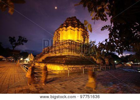 Asia Thailand Chiang Mai Wat Chedi Luang