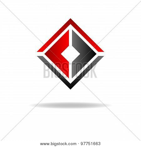 Two C - Letter Logo, Geometric Shape