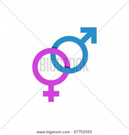Mars And Venus Signs, Male And Female Symbol