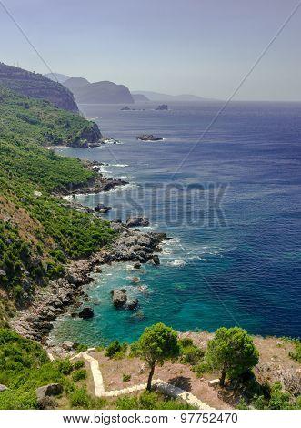Superb picturesque scene of adriatic beach in Montenegro.