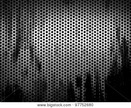 grunge metal mesh background