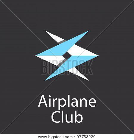 Airplane Club Logo, Emblem Of Airlift Company