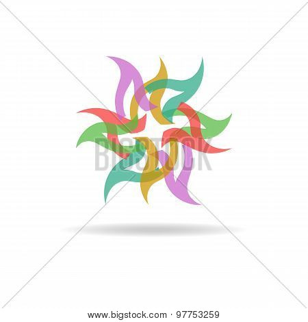 Buisness floral Logo - Colorful Abstract Flower