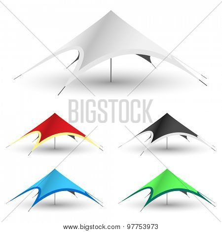 Star Tent on a white background. Set Gazebo Icon Illustration.