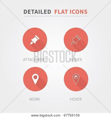 Detailed Flat Design Icons