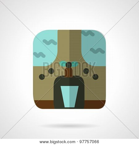 Water purifier flat color vector icon