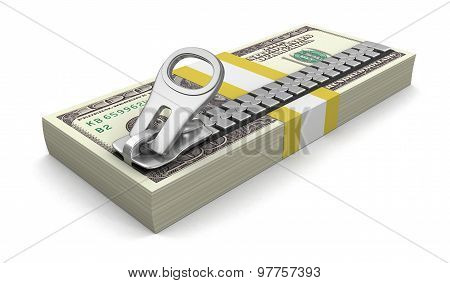Dollars and Zipper (clipping path included)
