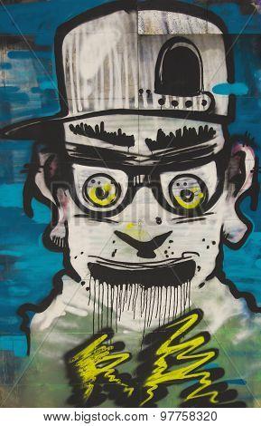 Varna, Bulgaria - September 10 : Graffiti on the wall