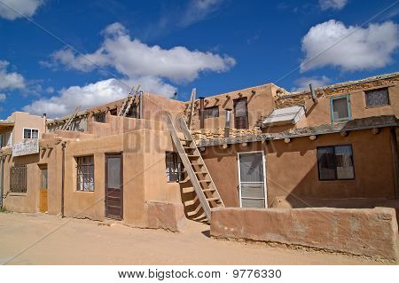 Kivas And Ladders In Acoma Pueblo