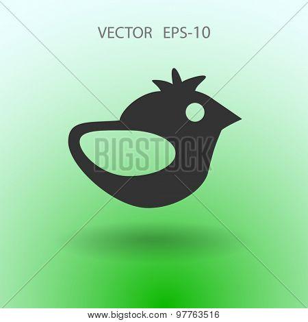 Flat icon of bird