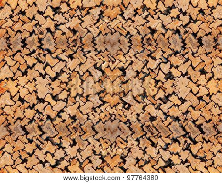 abstract wooden puzzle