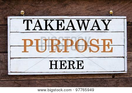 Inspirational Message - Takeaway Purpose Here