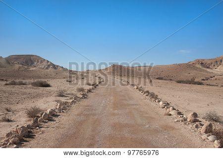 Road at Negev desert