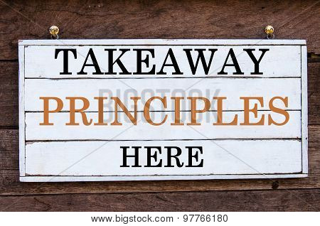 Inspirational Message - Takeaway Principles Here