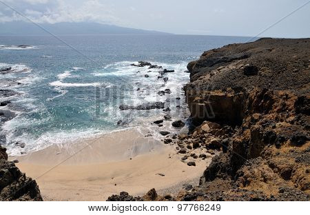 Cliff Eroding Into Beach
