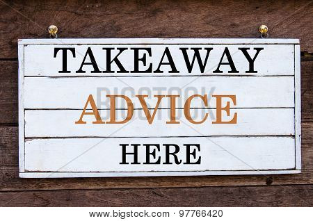 Inspirational Message - Takeaway Advice Here