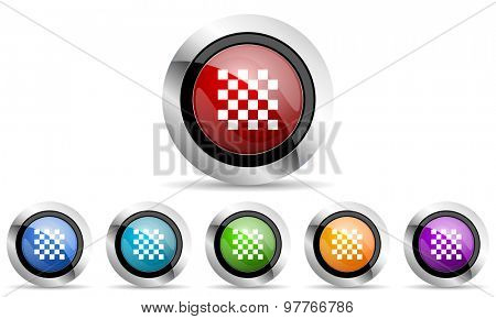 chess original modern design colorful icons set for web and mobile app on white background