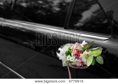 Door Of Black Wedding Car