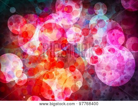 Colorful grunge textured bokeh background for your projects