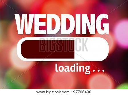 Progress Bar Loading with the text: Wedding
