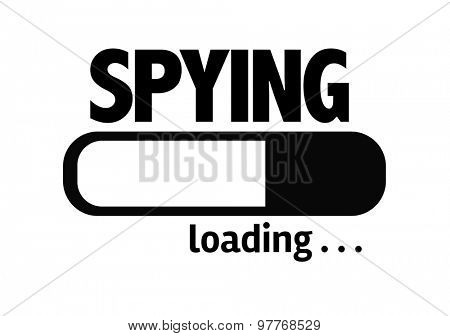 Progress Bar Loading with the text: Spying