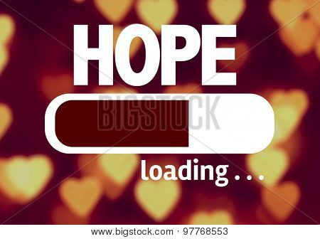 Progress Bar Loading with the text: Hope
