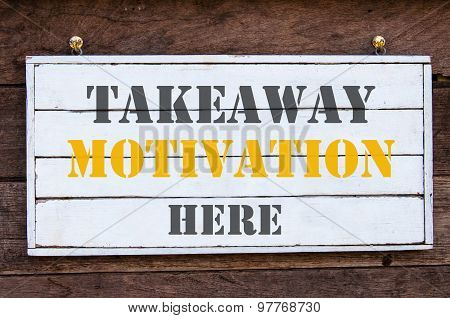 Inspirational Message - Takeaway Motivation Here