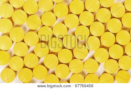 Medicine, pharmacy. Tablets on the table