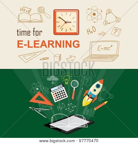Banner For On Line Education
