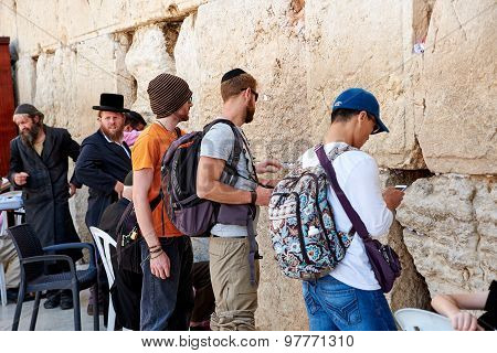 The Western Wall Also Known As Wailing Wall Or Kotel In Jerusal