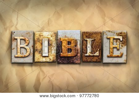 Bible Concept Rusted Metal Type