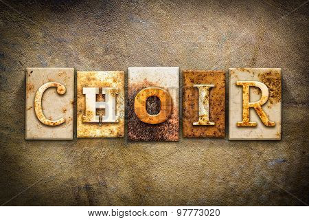 Choir Concept Letterpress Leather Theme