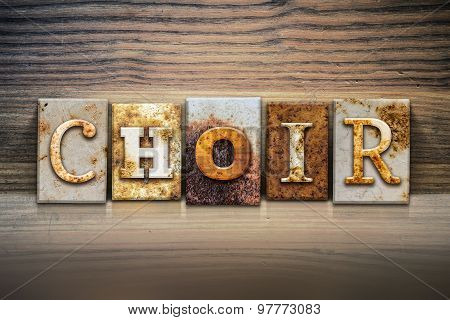 Choir Concept Letterpress Theme