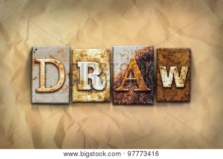 Draw Concept Rusted Metal Type