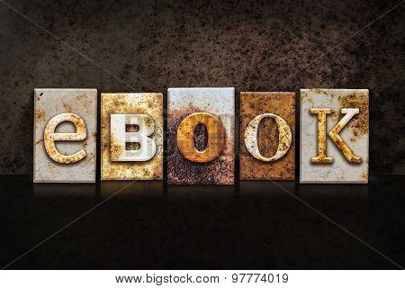 Ebook Letterpress Concept On Dark Background