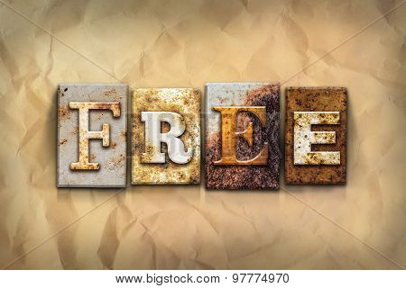 Free Concept Rusted Metal Type